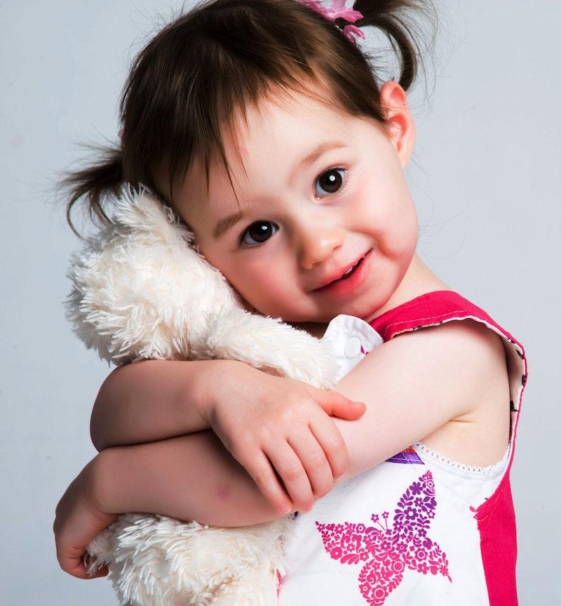 small hugging toddler